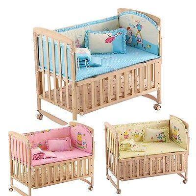 New Baby Bedding Set Cartoon Infant Crib Mattress Mat Pillow Security Bumpers