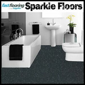Altro Dark Grey Sparkly Bathroom Flooring Glitter Safety ...
