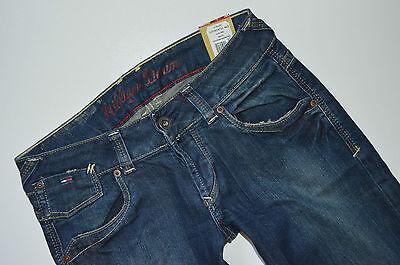LauRie Hose schmale Damen Cropped-Jeans mit Ziernähten Serena Dunkelblau