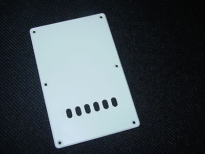 MonkeyJack Replacement Electric Guitar Backplate Cavity Tremolo Cover for Strat Squier Guitar White