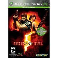 Resident Evil 5 (platinum Hits) (xbox 360, 2009) (0102) Free Shipping Usa