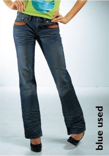 Usé 38 Neuf Femmes Gr Pantalon Par Arizona 34 Ajc 32 Bootcut Stretch Jeans Bleu npAa4OxYwq