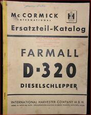 Mc cormick Farmall d 320 dieselschlepper pieza de repuesto catálogo