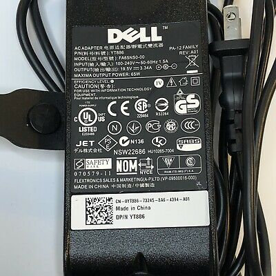 Genuine OEM Dell Laptop Charger Model # FA65NS0-00 Free Shipping!