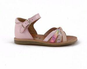 02a4b34760f7 Pom d Api pink and gold girl s sandal Poppy Ritter Caoutchouc Rose ...