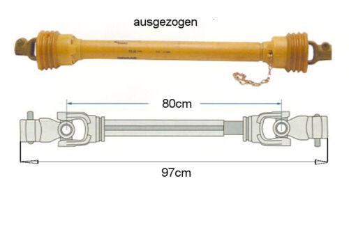 Gelenkwelle Zapfwelle F21 komplett 750mm  u.a für Bandsäge Holzspalter