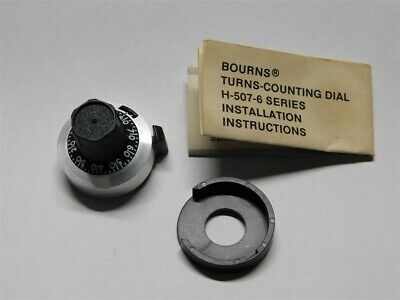 Bourns 15 Turn Potentiometer Counting Dial H-507-6 w//Instructions