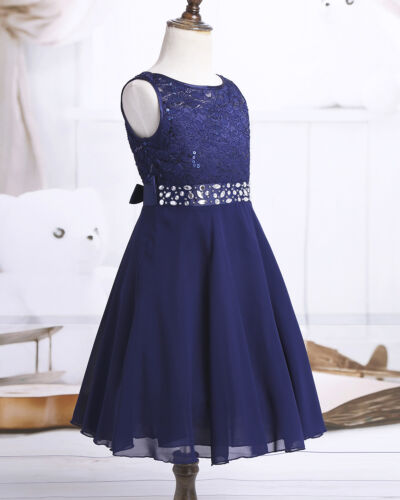 Kid Flower Girl Dress Princess Party Wedding Bridesmaid Communion Lace Dresses