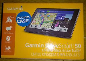 GARMIN DriveSmart LM UK Sat Nav UK ROI Lifetime Maps - Garmin maps for united kingdom
