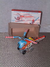 VINTAGE YONEYA (YONE), TIN, MECHANICAL CIRCUS HELICOPTER, W/ORIGINAL BOX! WORKS!