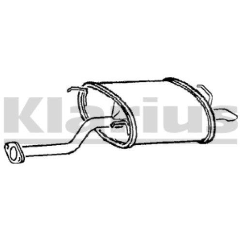1x KLARIUS OE Quality Replacement Rear End Silencer Exhaust For AUSTIN Petrol