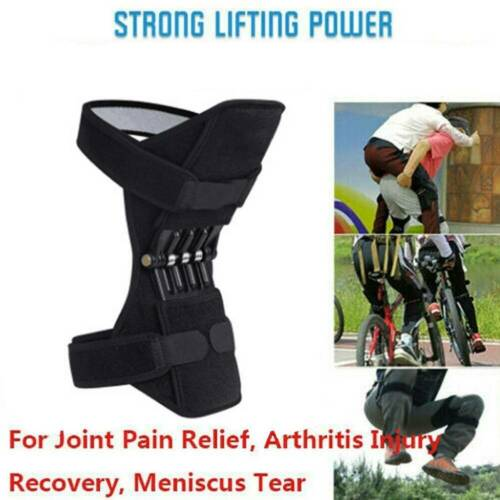 1Pair Joint Support Knee Pads Booster Lift Squat Sports Power Spring Force Brace