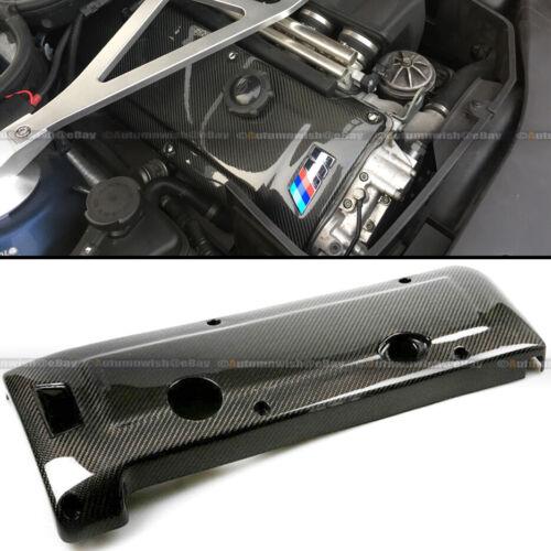Para 01 02 03 04 05 06 E46 M3 Real Carbono Fibra Motor Funda Glossy Gel Acabado