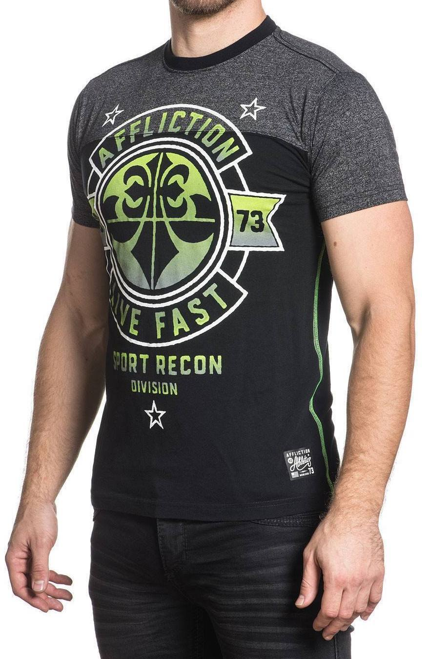 Affliction Men's Never Surrender Graphic Tee Regular Fit T-Shirt Medium L XL