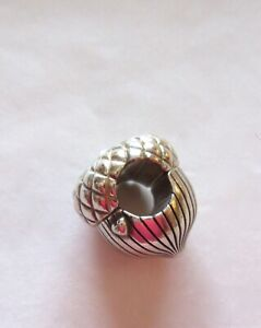 Brighton-Spacer-Charm-ACORN-silver-color-small-clear-crystal