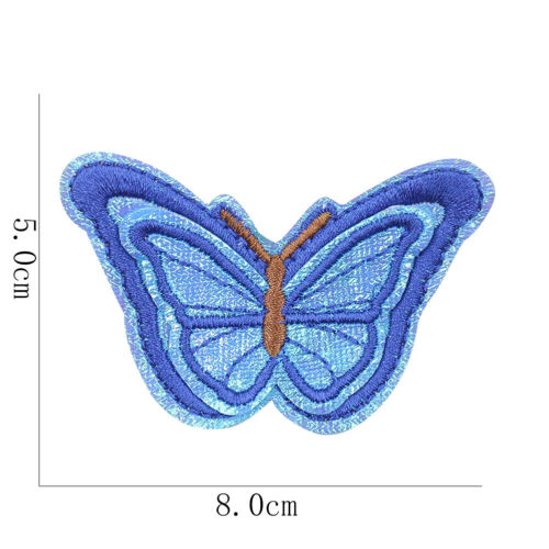 Six Colorful Flying Butterfly Patch Cute Girl Decor Sew Iron Embroider Applique