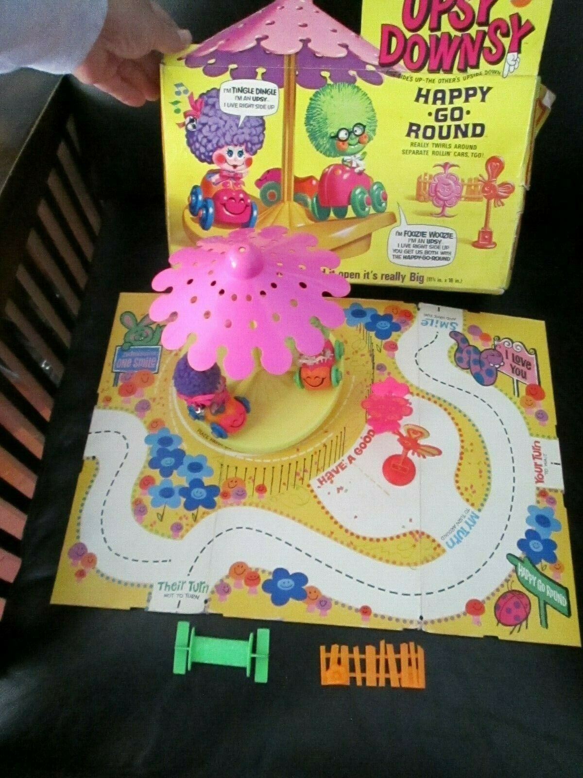 Jahr Rare Upsy Downsy Large Playlands Play Board & Merry Happy Go Round Set