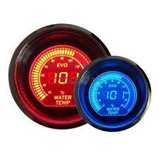 "2"" 52mm WATER TEMP TEMPERATURE DIGITAL LED METER GAUGE TINT LENS BLUE RED #7061"
