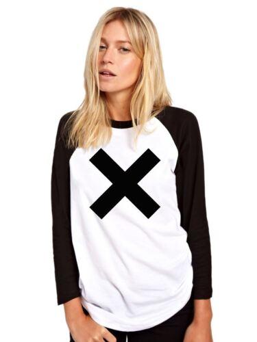 schwarz weiß Langärmlig Unisex Base Ball X Fashion Baseball T-Shirt Top