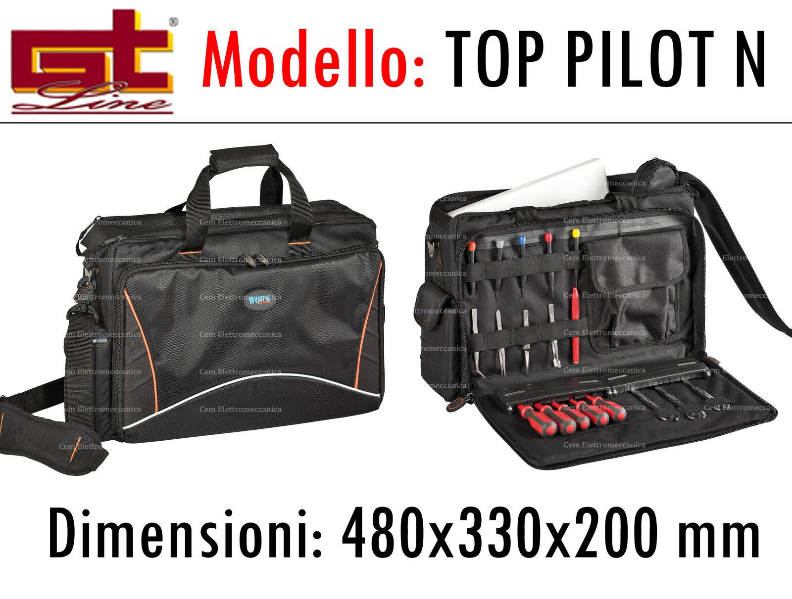 Valigia GT Line Borsa porta utensili e pc TOP PILOT N - per attrezzi e notebook