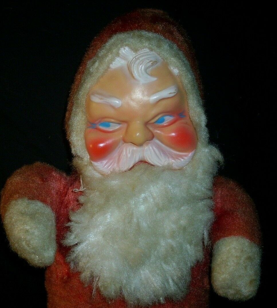 16   Vintage Vintage Vintage Natalizie Giappone Babbo Natale GOMMA Face Peluche Giocattolo 0bd96a