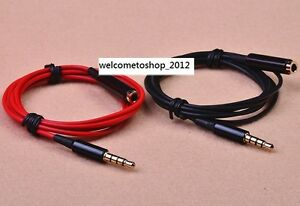red 4 pole male to female headphone earphone extension cable audio adapter 6092127238248. Black Bedroom Furniture Sets. Home Design Ideas