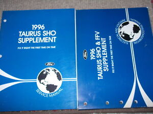 1996 Ford Taurus SHO Service Repair Shop Manual SET OEM   eBay
