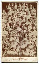 Photo E. Courret - Lima Portrait - Peru - Mosaïque - Grande carte cabinet 1880 -