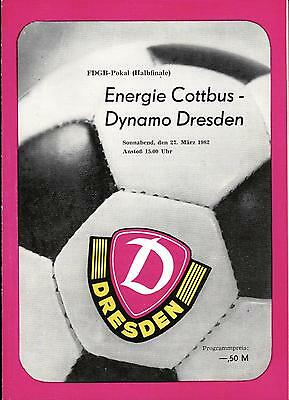 BFC Dynamo Berlin OL 88//89  BSG Energie Cottbus
