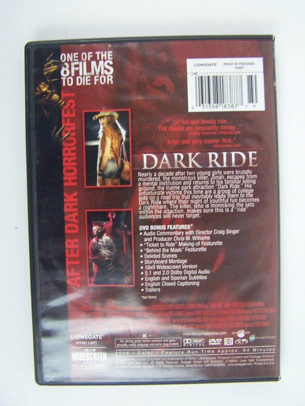 Dark Ride: After Dark Horrorfest DVD