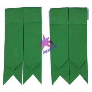 Cc Homme Écossais Flashes Pour Chaussettes De Kilt Uni Vert Tartan