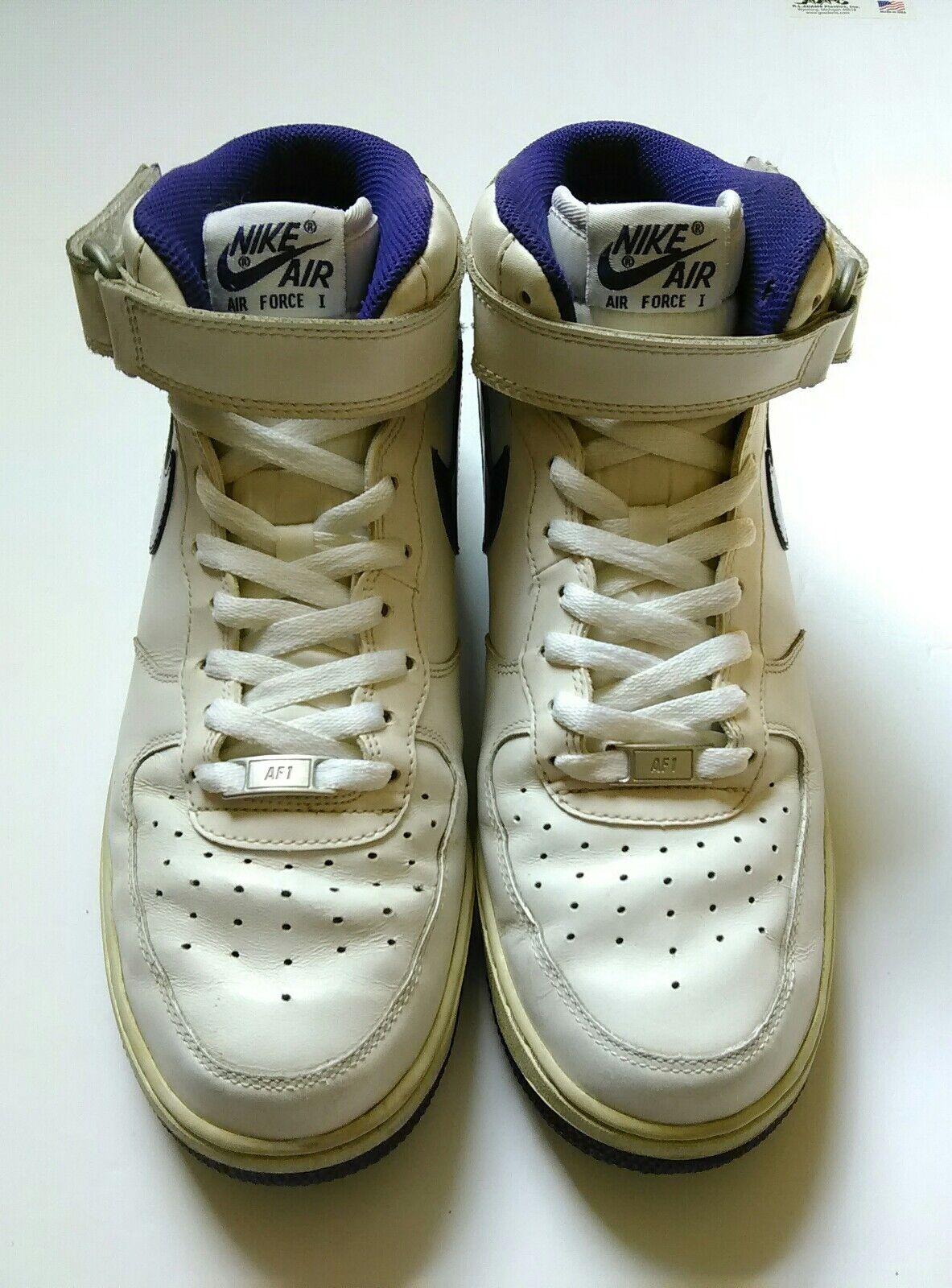 Nike Air Force 1 tamaño: blanco y morado hombres zapatos tamaño: 1 9,5 comodo y atractivo d825ae