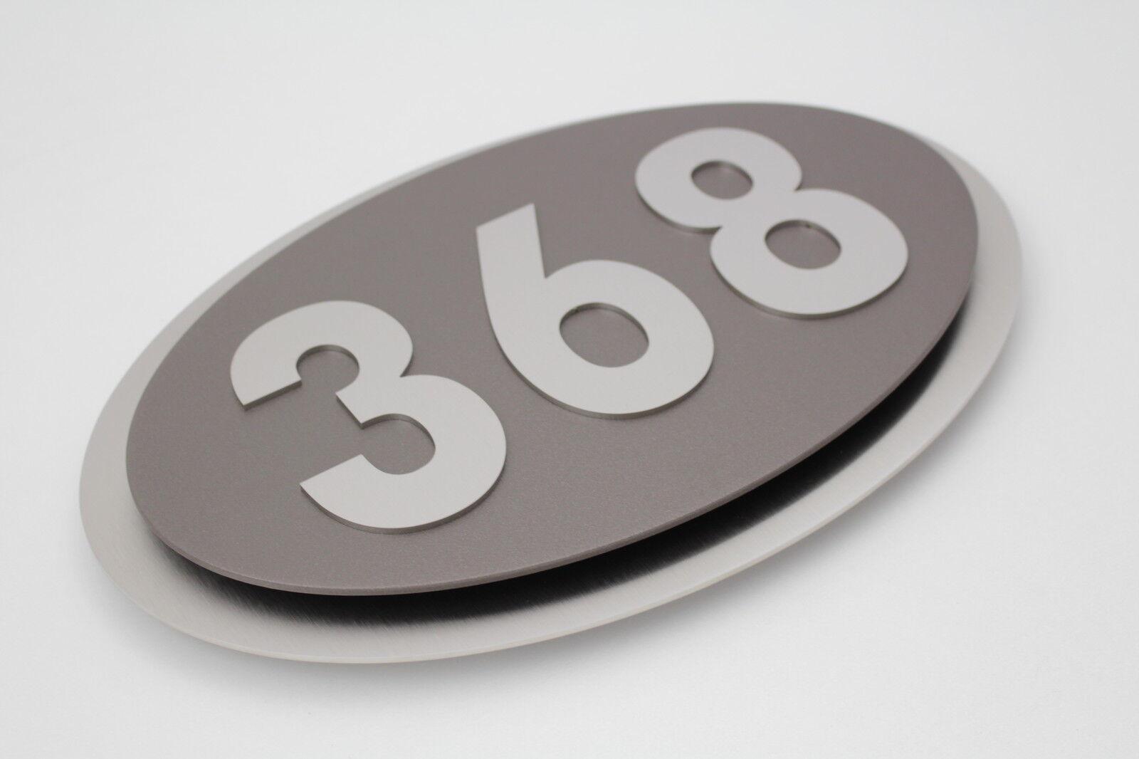 Hausnummer Edelstahl Sepia grau grau grau Exklusives Design Galaxy 1-9 a-h A-H V2A | Praktisch Und Wirtschaftlich  | Überlegen  | Hochwertige Materialien  7162c0