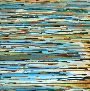 Original-Art-Abstract-Acrylic-Painting-Artwork-Sunset-On-The-Seine-Warren-Green