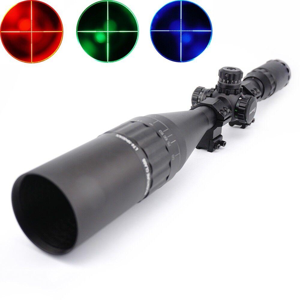 Visor 4-16X50 AOL Riflescope Rojo verde Azul lllumination + Parasol