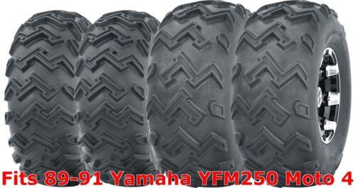 Set 4 WANDA ATV tires 22x8-10 Front /& 25x12-9 Rear 89-91 Yamaha YFM250 Moto 4