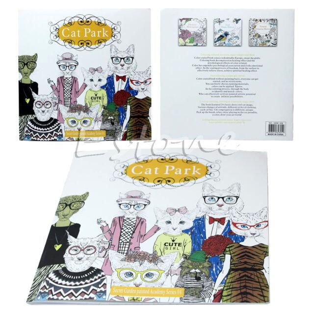 New Fashion Secret Garden Cat Park Adults Kids Graffiti Coloring Books Gitfs