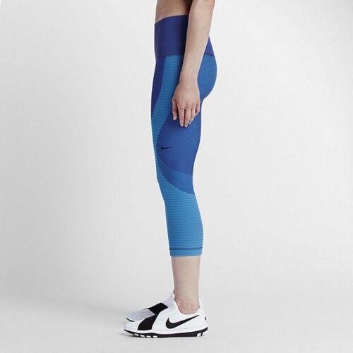 Blu Per Miura Donna Modellare Palestra Collant Zonata Xs Capri Nike qTZ0x