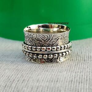 Solid-925-Sterling-Silver-Spinner-Ring-Wide-Band-Meditation-Statement-Jewelry-e1