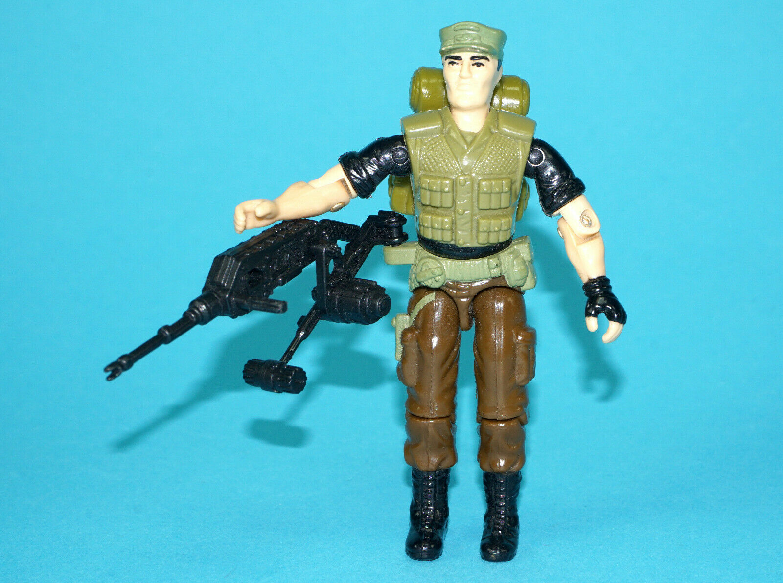 1989 GI JOE NIGHT FORCE REPEATER v2 100% COMPLETE C9+ UNCRACKED ELBOWS HASBRO