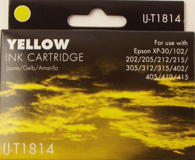 IJ-T1814 Yellow Ink for XP102/202/205/212/215/305/312/315/402/405/412/415