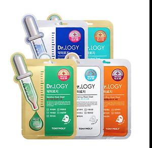 Tony-Moly-Dr-Logy-Face-Mask-Sheet-X-2-PCS-100-Natural-Cellulose-Sheet-5-Types