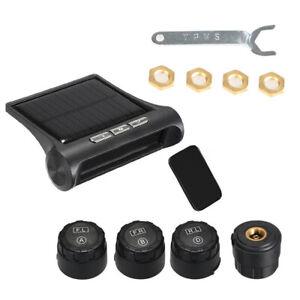 Pneus-Systeme-de-Pression-Moniteur-LCD-TPMS-Solaire-4-Capteurs-Externes