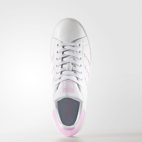 Women Adidas BZ0401 Stan smith Running shoes white pink sneakers
