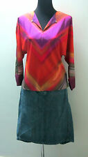 Ted Baker -BNWT  *WOW*- Purple Haze Open Neck Bouse/Shirt - size Ted 1 6-8-10 UK