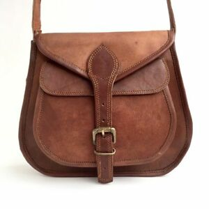 253c99120a Image is loading New-Women-Distressed-Leather-Shoulder-Bag-Tote-Purse-