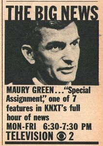 Details about 1962 Tv Ad~MAURY GREEN Newsman on KNXT in LOS  ANGELES,CALIFORNIA~News Promo