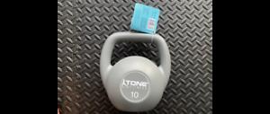 Tone Fitness 10lb 4.5kg Vinyl Kettlebell Hand Weight Tone and Sculpt