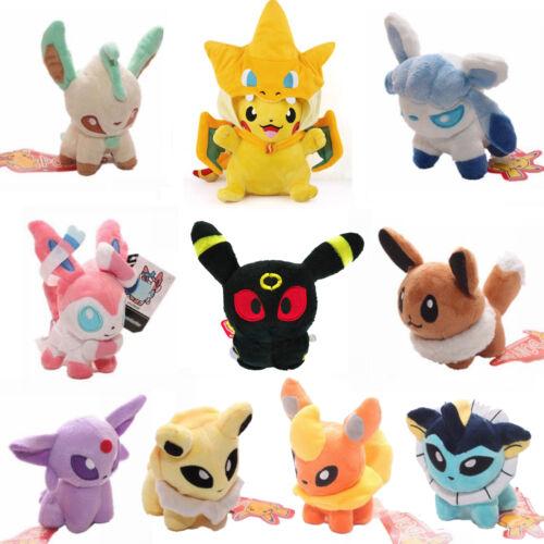 Pokemon Eevee Jolteon 15cm Kids Soft Stuffed Toy