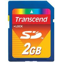 Genuine Transcend 2gb SD memory Card for Canon Ixus cameras UK seller